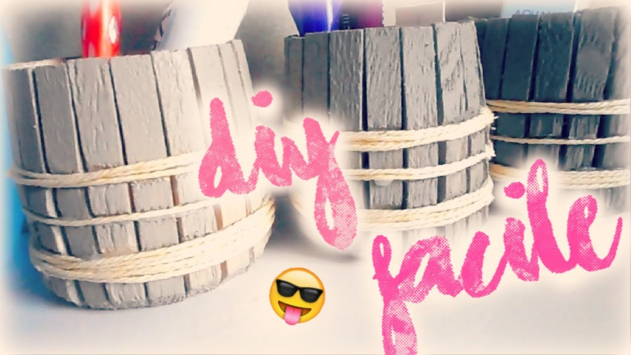 ✁ DIY  - Pot en bois FACiLE ♡
