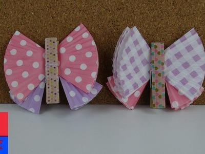 Papillon DIY en moules à muffins en papier à faire soi-même français – Papillon multicolore