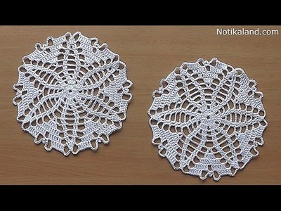 CROCHET doily Tutorial Pattern Crochet Motif How to crochet doily Part 2