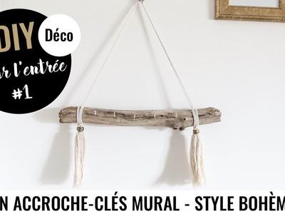 DIY DECO #1 - UN ACCROCHE-CLÉS BOHÈME POUR L'ENTRÉE