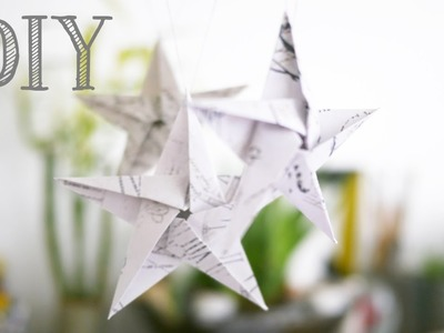 DIY (Tutoriel) Etoiles en Origami