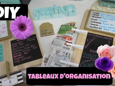 DIY | Tableaux d'organisation en deux versions