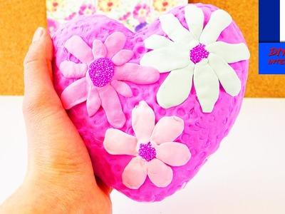 Cœur printanier DIY avec de la pâte à modeler Foam Clay et Silk Clay | Déco avec des fleurs