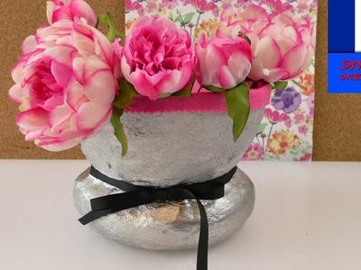DIY Pot de rangement en plâtre à faire soi-même | Vase & Déco