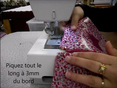 Trousse doublée avec coins parfaits tuto Couture DIY