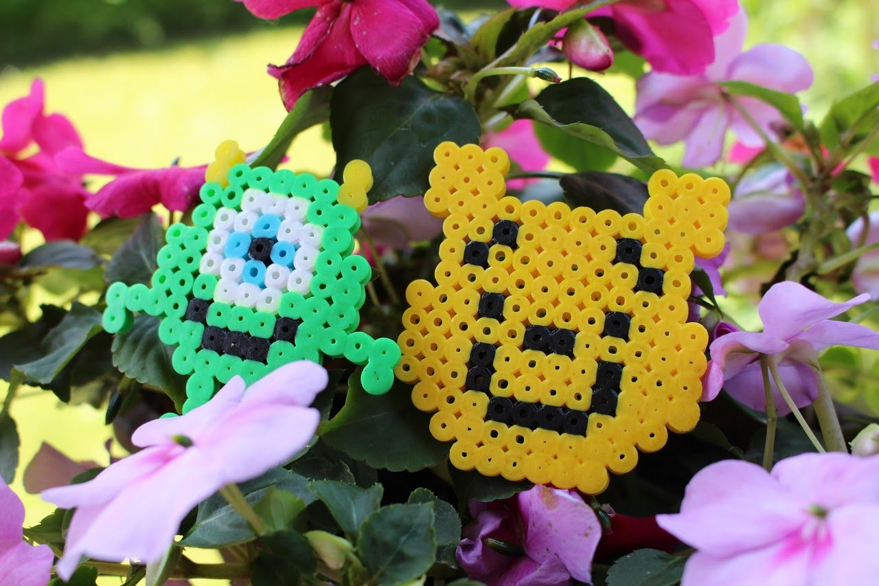 DIY : Bob et Winnie l'ourson en Perles Hama. Bob & Winnie the Pooh Perler beads