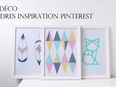 DIY Déco: 3 Cadres Inspiration Pinterest