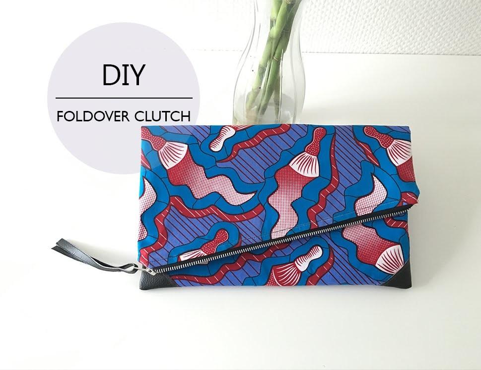 DIY Foldover Clutch. DIY Pochette Pliable