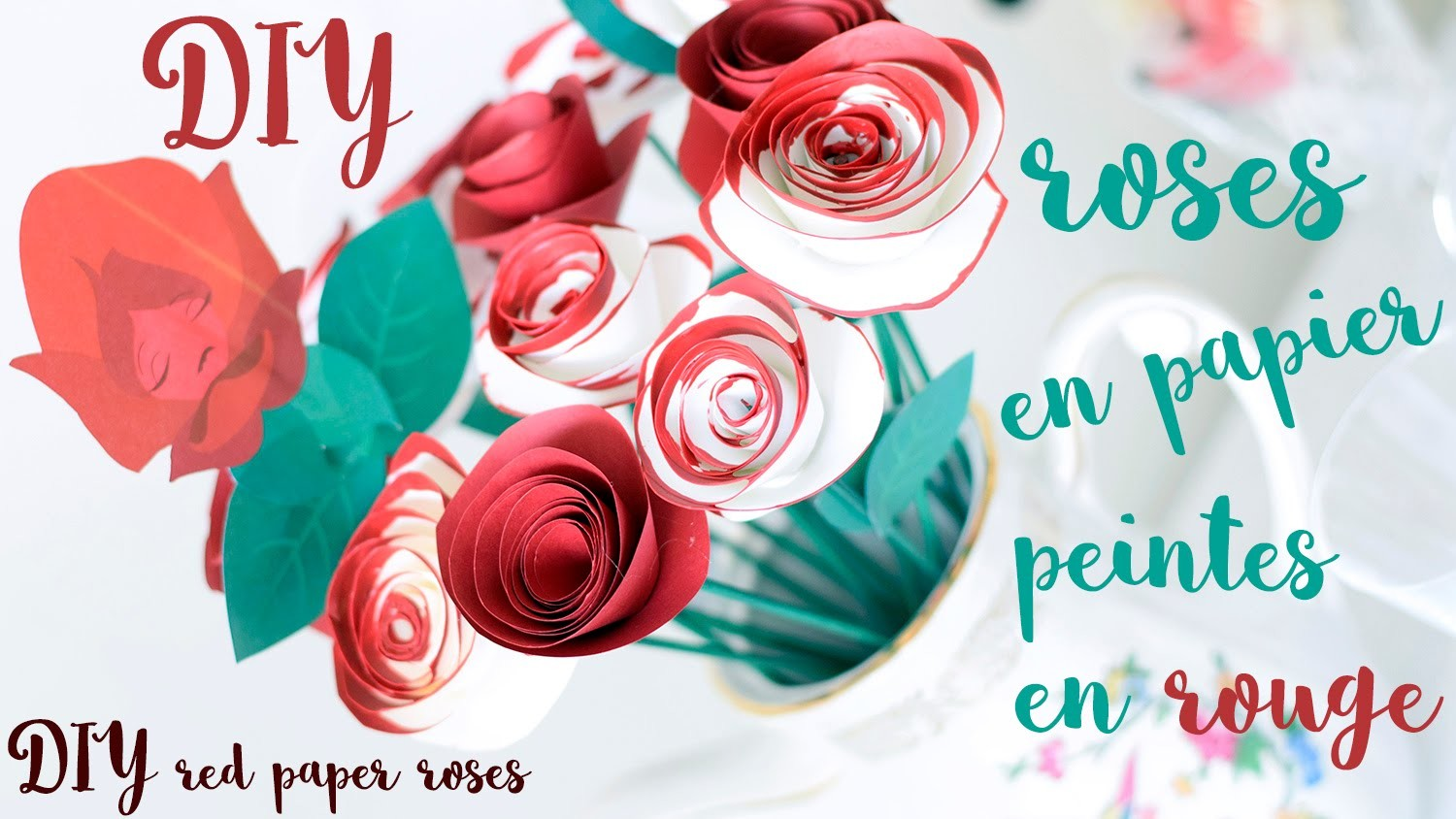 DIY roses peintes en rouge. DIY Alice red roses