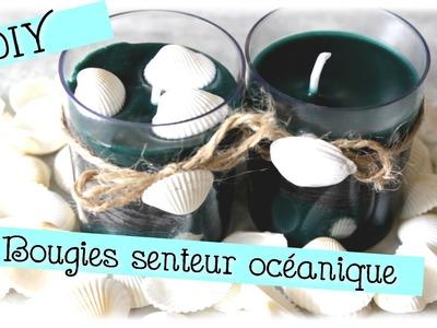{ DIY }  Bougies bicolore senteur océanique