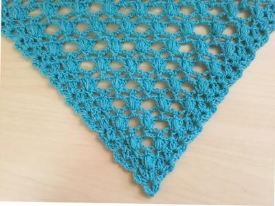 Châle turquoise au crochet facile. Chal tejido a crochet facil de tejer