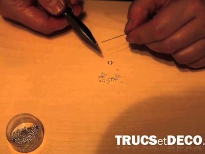 Perle à écraser sur bracelet - Tutoriel par trucsetdeco.com