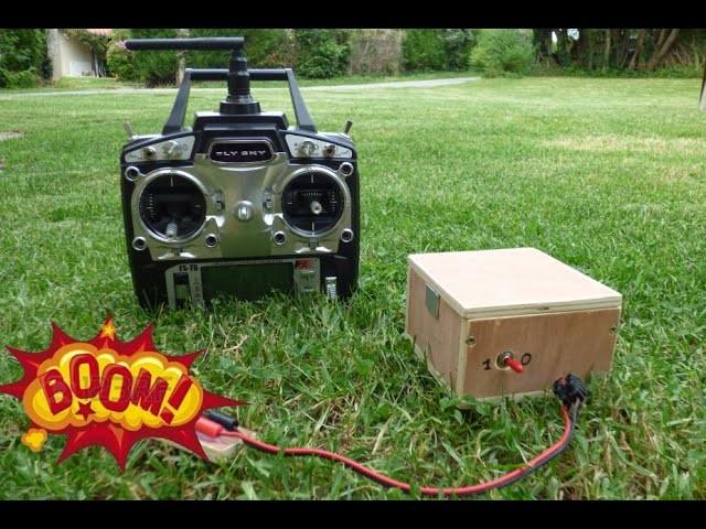 DIY : Comment faire un allume pétard Radio Commandé.