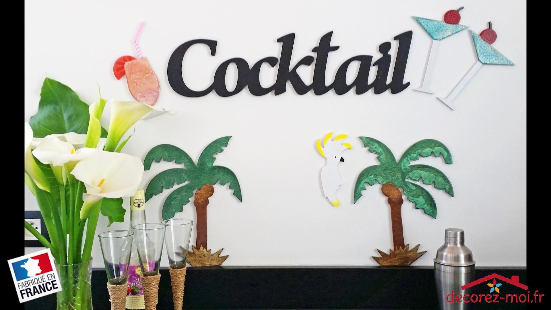 DIY - Tutoriel pour faire une déco d'été, vacances, palmiers et cocktails pebeo moon prisme