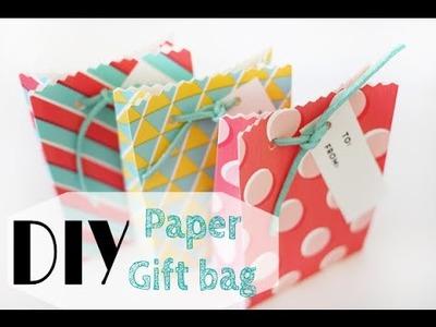 DIY Paper Gift Bag (easy). Sac Cadeau en papier (facile)