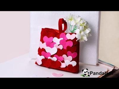 Vidéo 12 DIY un cadeau pour la fête des Mères-faire un sac à main avec coeurs feutrés à la maison