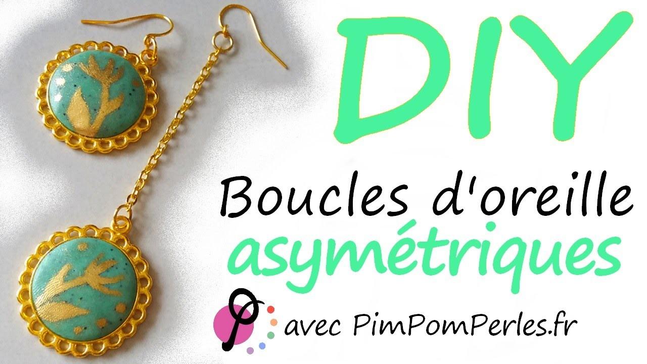 DIY #11 - Boucles d'oreille asymétriques avec PimPomPerles.fr