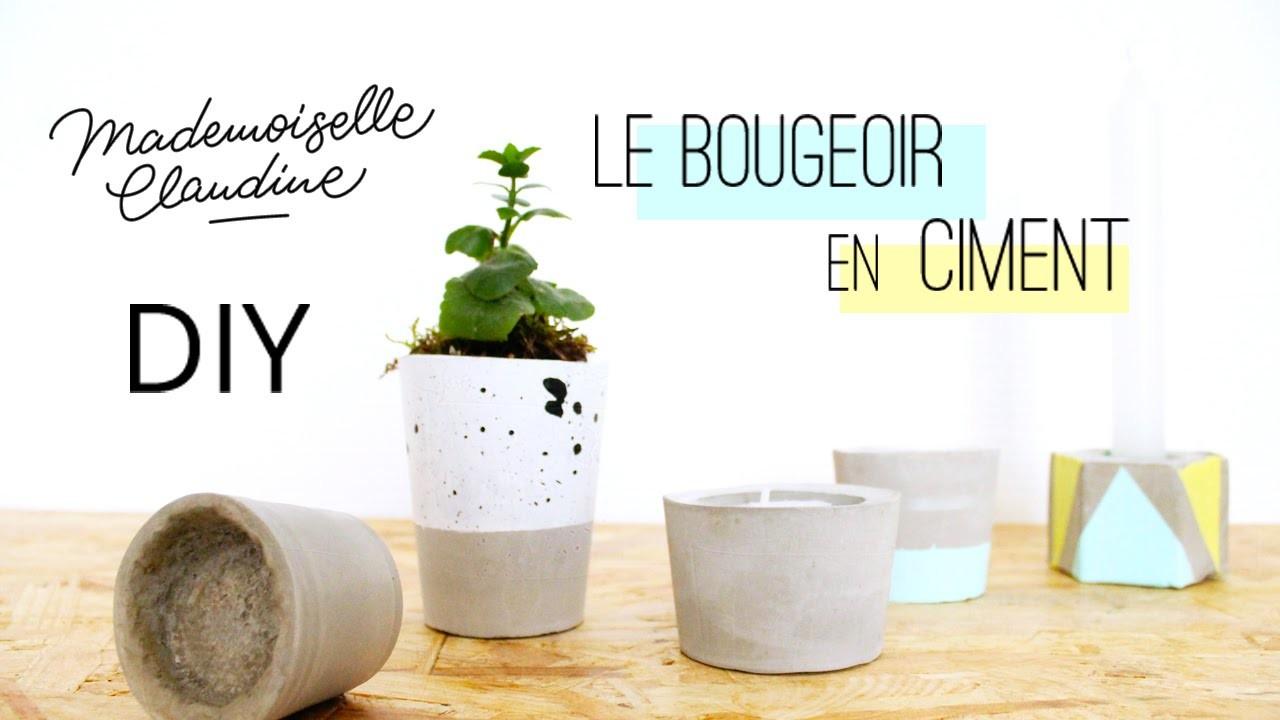 DIY - Bougeoir en ciment Mademoiselle Claudine