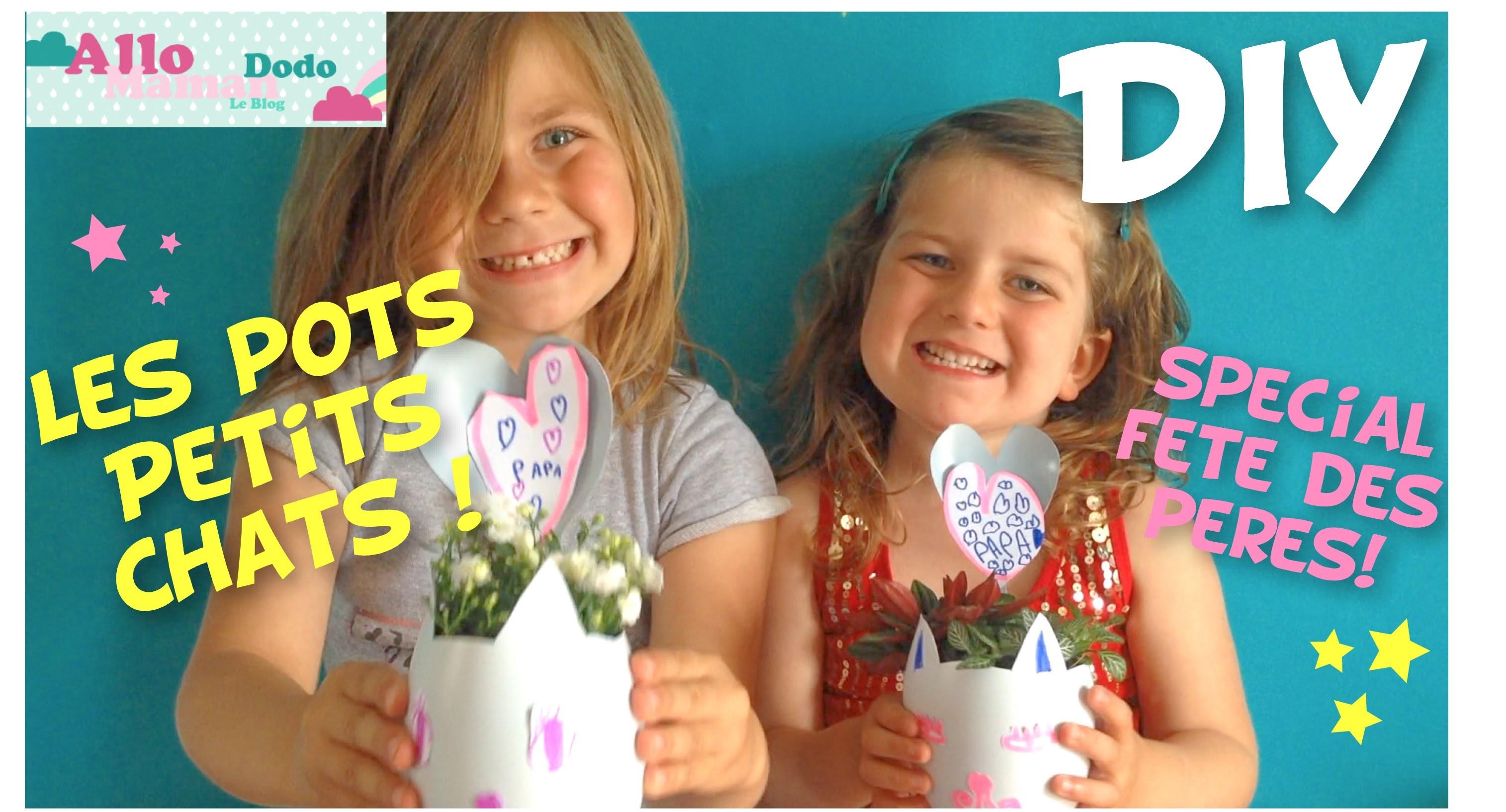 """DIY FETE DES PAPAS AVEC BLEDINA: Les Pots Petits chats"""" #Bledinafetelespapas"""