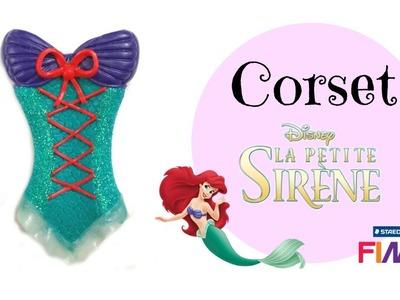 (TUTO) Corset Ariel La petite sirène de Disney en Fimo. polymer clay