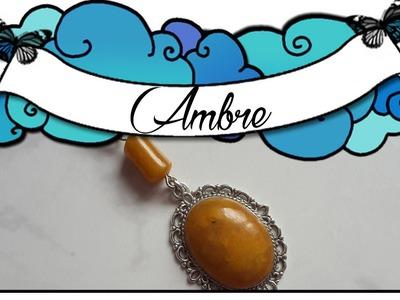 TUTO POLYMÈRE N°123 Pierre Ambre -  polymer tutorial Amber