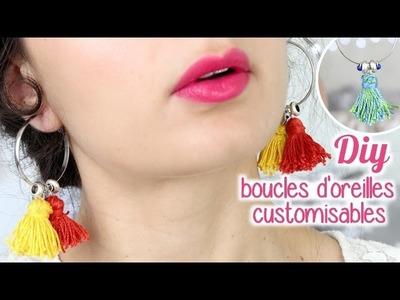 DIY Boucles d'oreilles créoles personalisables ✂️