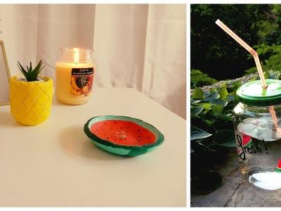 DIY été 2016 à faire soi-même (watermelon, pineapple). Récup'