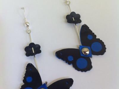 DIY Nespresso: Comment-faire des boucles d'oreilles papillon édition limité