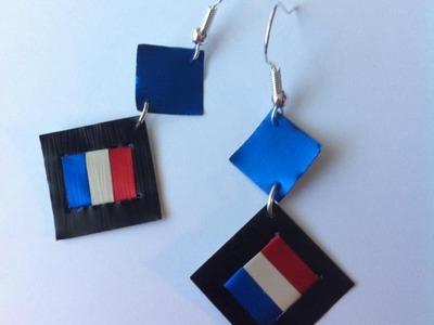 DIY Nespresso: Comment-faire des boucles d'oreilles drapeau Français