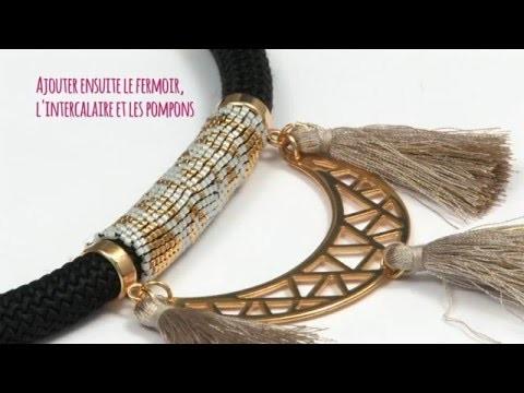 Tuto DIY - Réaliser un collier en corde tissage Peyote en tube de perles Miyuki - Perles & Co