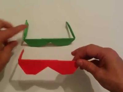 Comment faire des lunettes en papier - origami lunettes de soleil