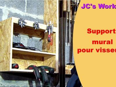 Comment faire une étagère porte visseuses et accus - #24