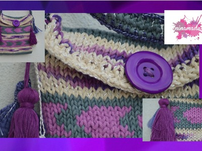 DIY. Comment tricoter un sac bandoulière. Knit a shoulder bag.