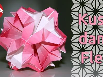 Origami - Kusudama fleur - Flower Kusudama [Senbazuru]