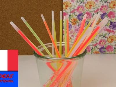 5 idées déco avec des bâtonnets fluorescents. Décoration et utilisation. Tuto en français