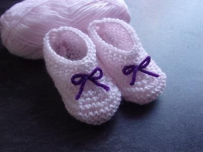 Chaussons 0.3 mois au tricot