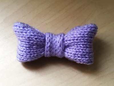 Tricot : Nœud papillon très facile. Lazo en dos agujas muy facil de tejer