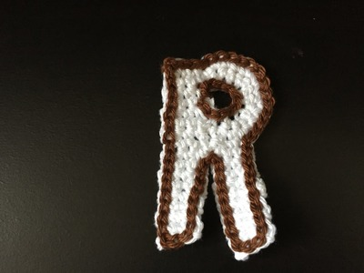 Tuto lettre R au crochet spécial gaucher