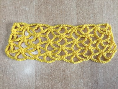 Tuto motif rideaux au crochet spécial gaucher