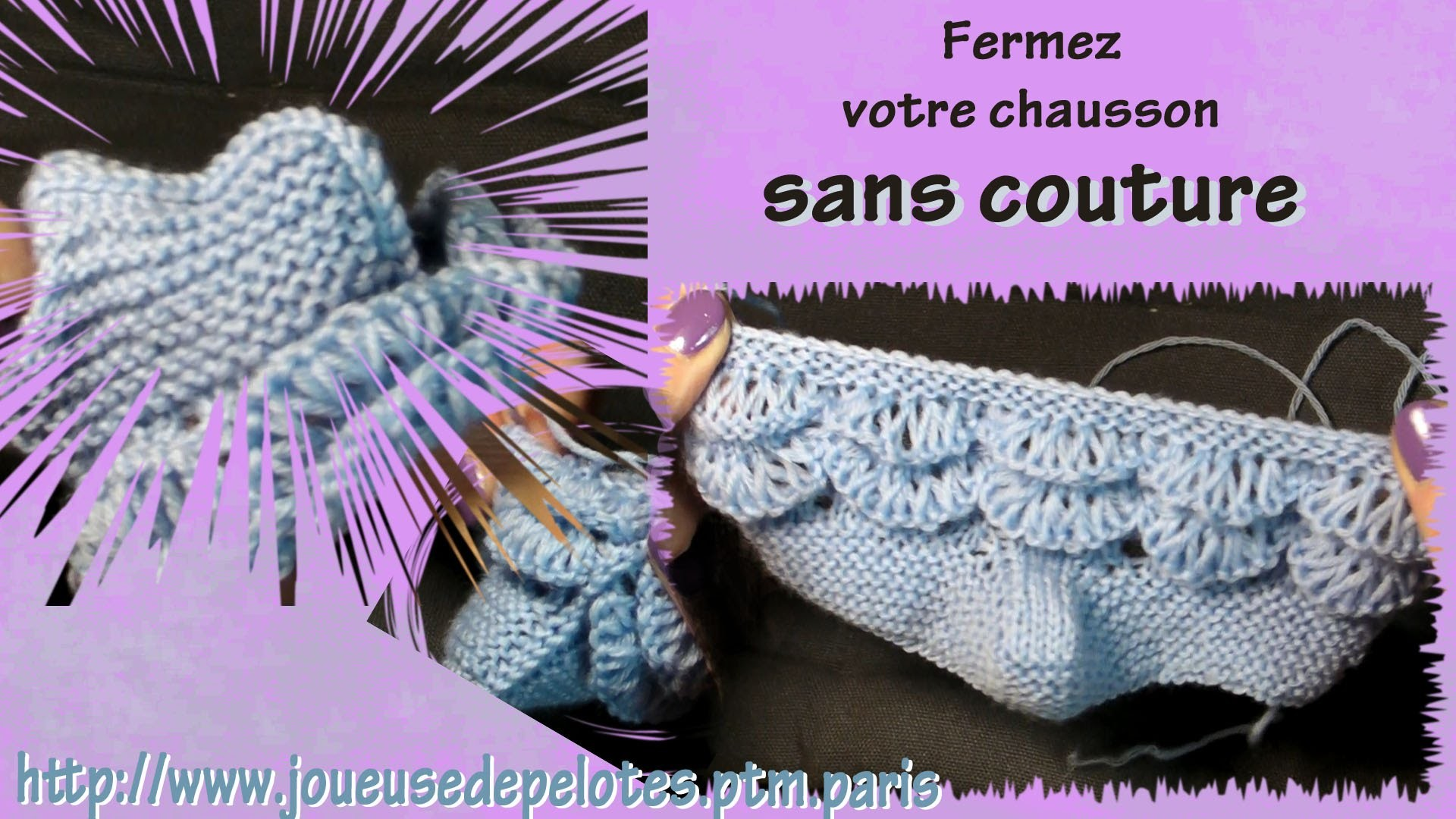 Tuto tricot chaussons pour b b partie iii fermer - Tuto chausson bebe couture ...