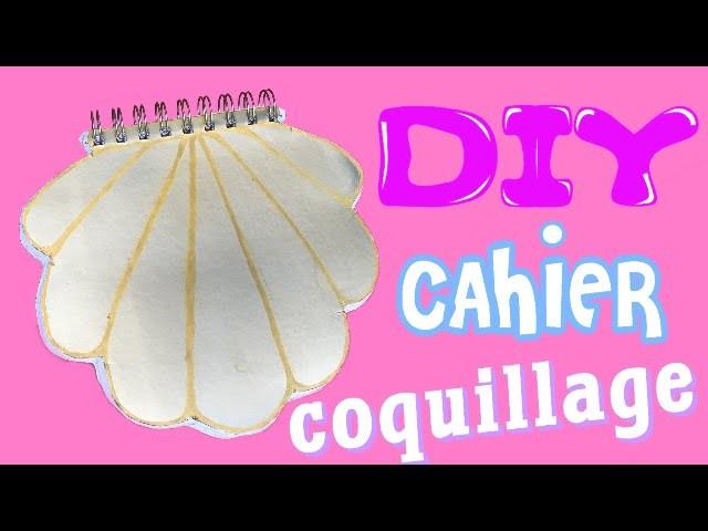 DIY | Tuto: Cahier coquillage