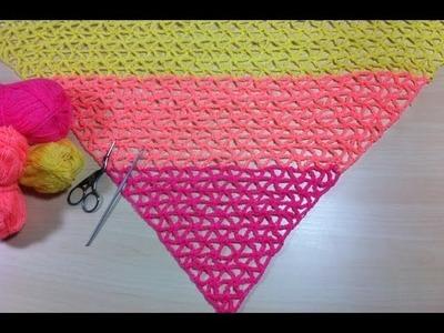 Châle tropical très facile au crochet. Chal Tropical muy facil de tejer a crochet(
