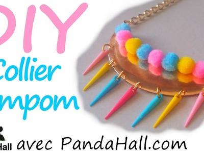 DIY #12 - Collier Pompon colorés avec PandaHall.com