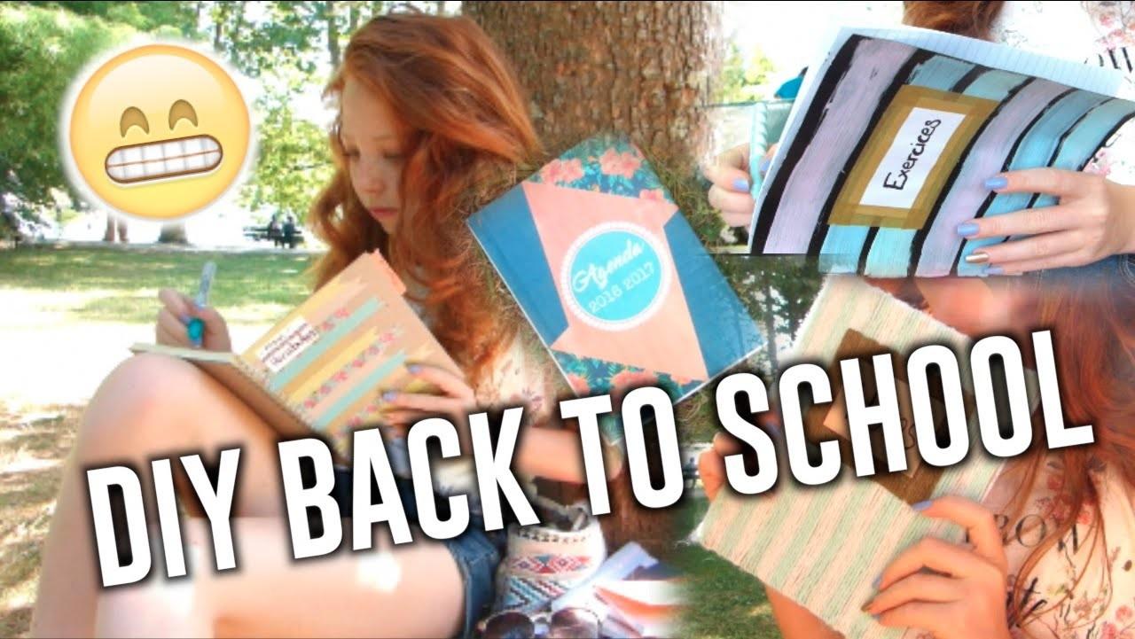 • DIY BACK TO SCHOOL. School Supplies & Notebooks. DIY FOURNITURES SCOLAIRES •