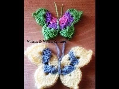Papillon au crochet facile.Crochet Mariposa.Crochet Butterfly