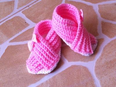 Sandales croisées au crochet unisex facile. Sandalias tejidas a crochet facil