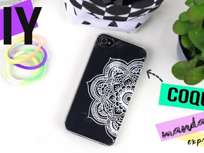 DIY EXPRESS┋CUSTOMISER UNE COQUE FACON MANDALA BOHO - PHONE CASE, DIY Francais