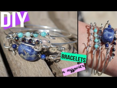 DIY┋BRACELET PERLES SEMI PRECIEUSES A ASSOCIER #summerchallenge  Beaded bracelet cuff DIY français