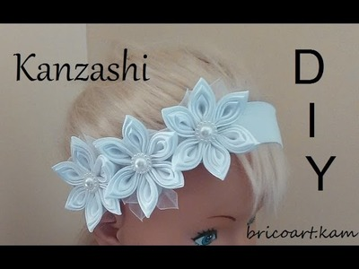 DIY MK Bandeau bébé Baby Headband Kanzashi flower