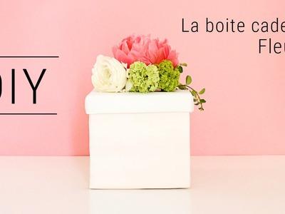DIY boite cadeau fleurie. Flowery gift box